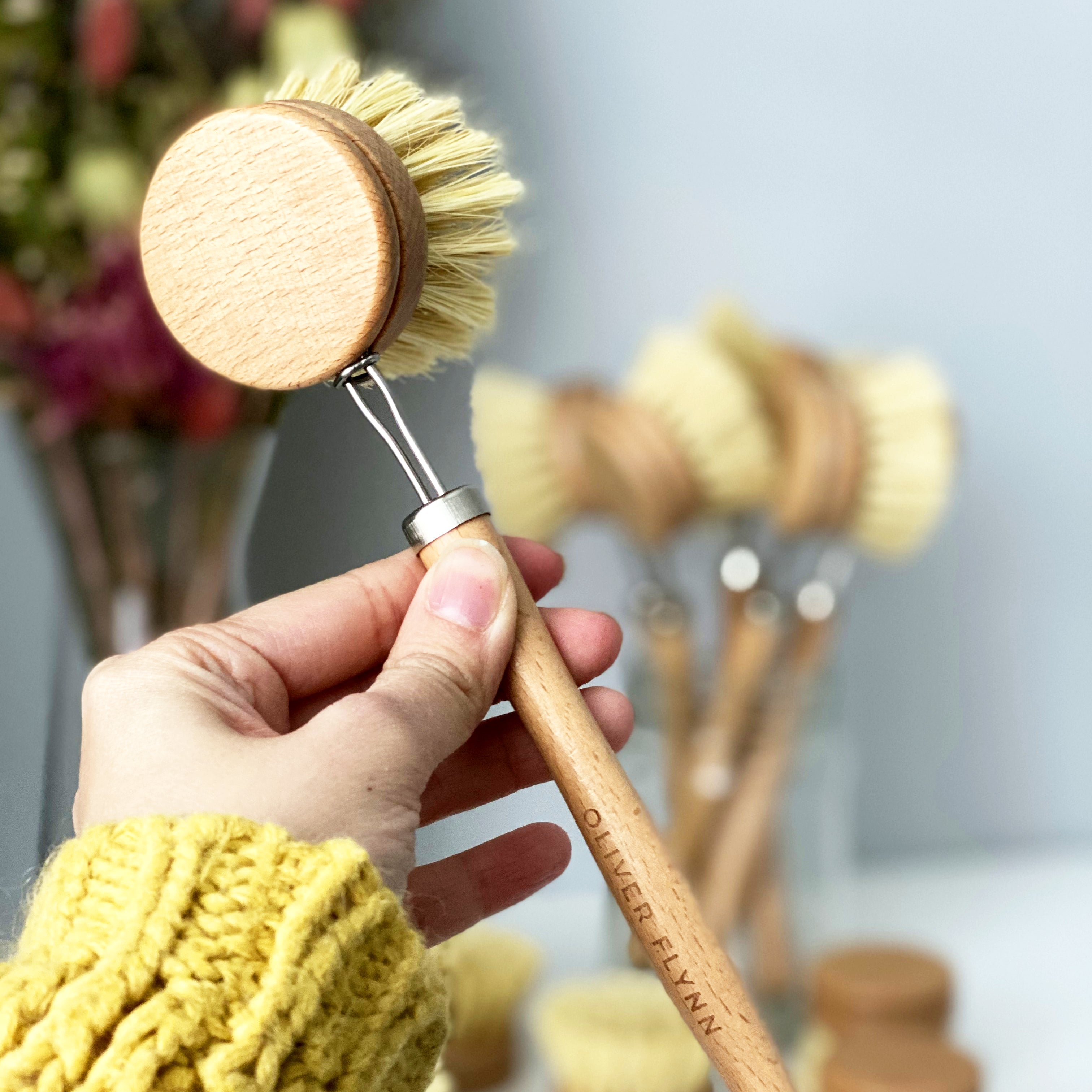 Long Handle Bamboo Brush