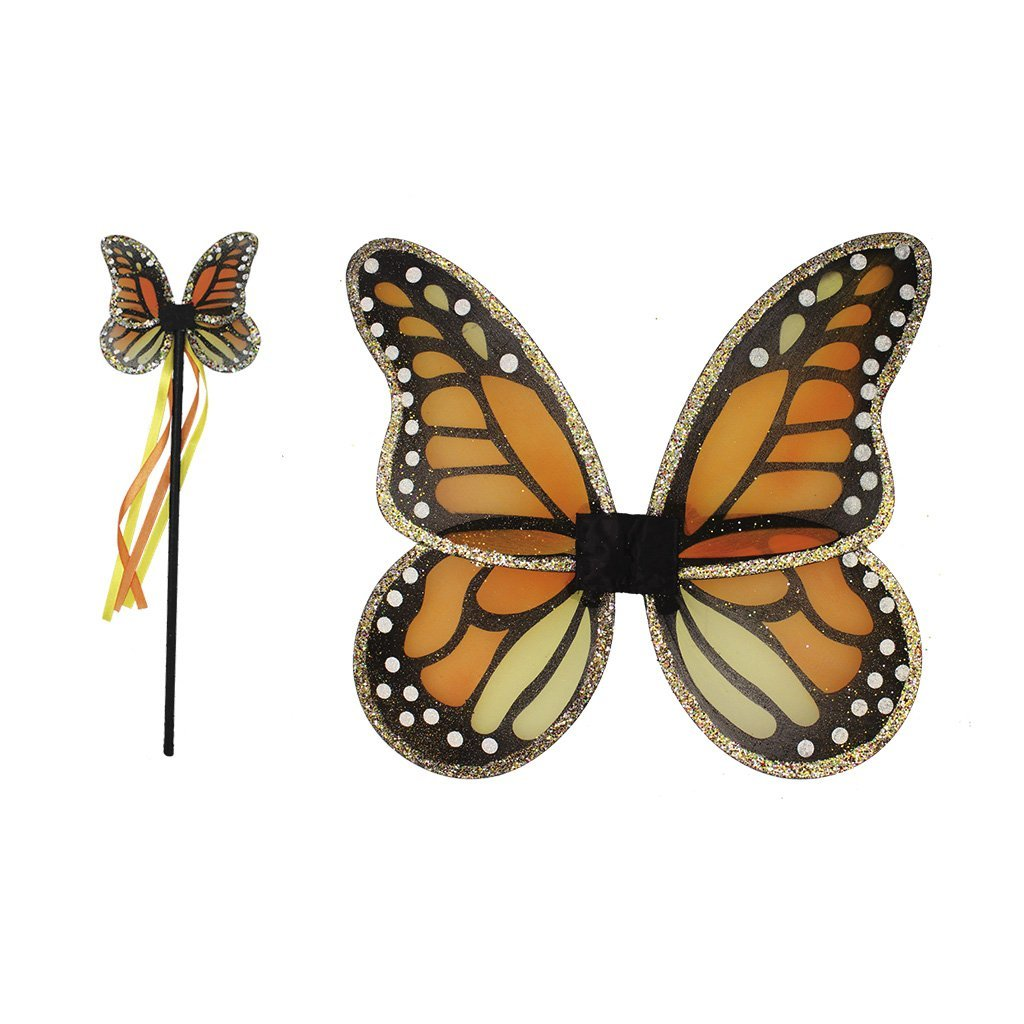 Great Pretenders Monarch Wings & Wand Set