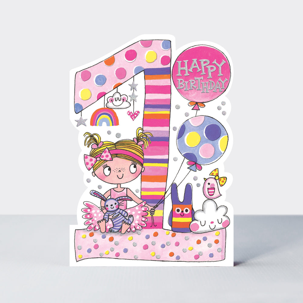 Birthday Card Age 1 Girl