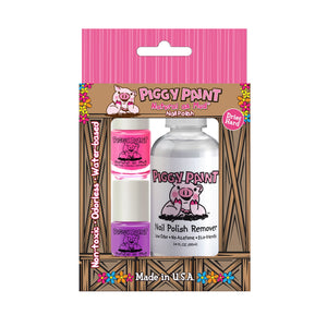 Piggy Paint 2 Mini Polish and Mini Remover Set