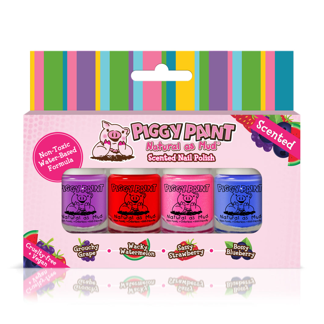 Piggy Paint 4 Mini Scented Polish Kit