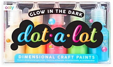 Dot-a-Lot Dimensional Craft Paint - Glow in the Dark Set of 5
