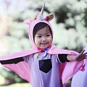 Great Pretenders Pink Unicorn Cape SZ 2-3