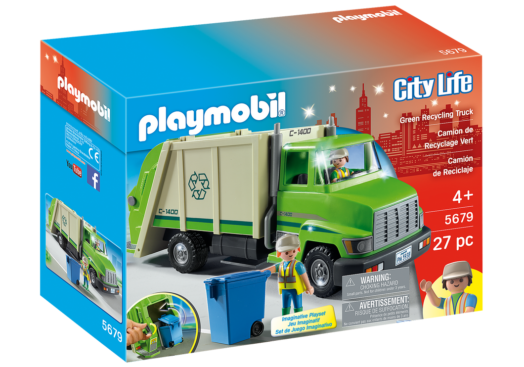 Playmobil - City Life - Recycling Truck - 5679