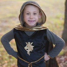 Load image into Gallery viewer, Great Pretenders Knight Set Gold with Tunic, Cape and Crown SZ 5-6
