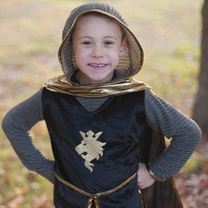 Great Pretenders Knight Set Gold with Tunic, Cape and Crown SZ 5-6