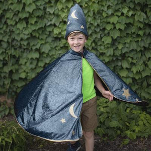 Great Pretenders Starry Night Wizard Cape & Hat SZ 5-6