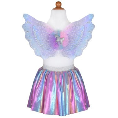 Great Pretenders Unicorn Skirt and Wings Set SZ 4-6