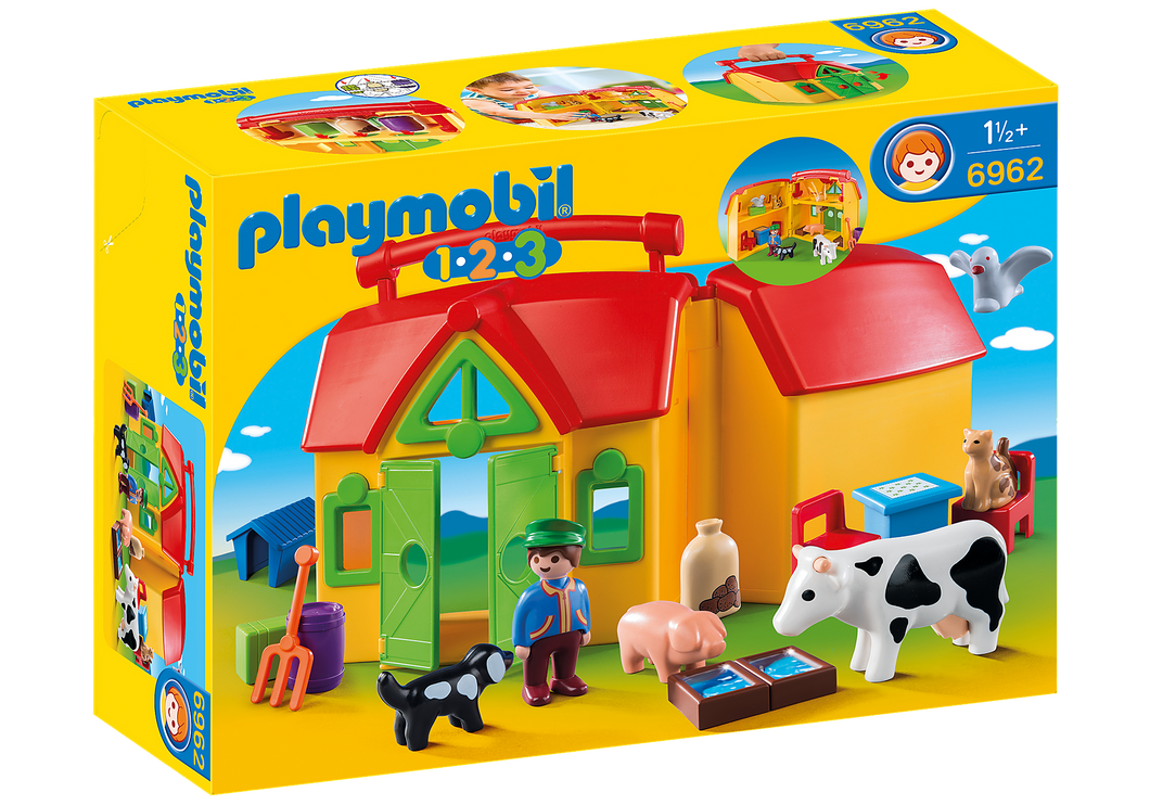 Playmobil - 1 2 3 - My Take Along Farm - 6962