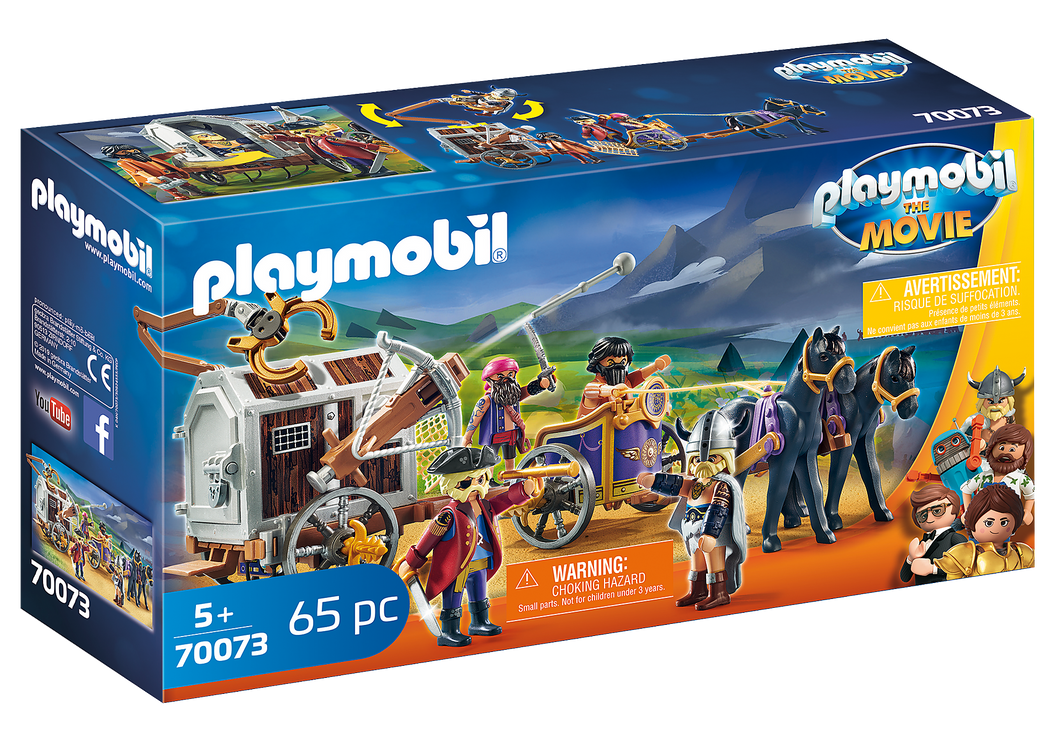 Playmobil - The Movie - Charlie with Prison Wagon - 70073