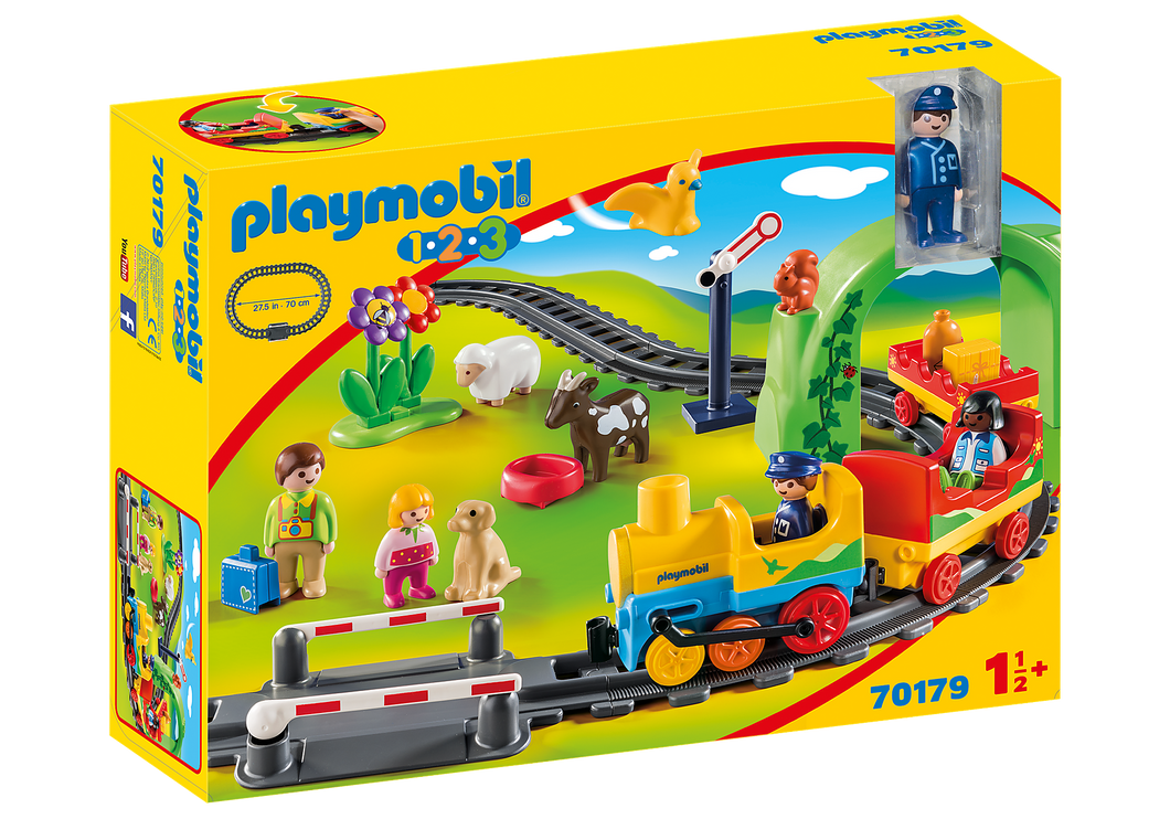 Playmobil - 1 2 3 - My First Train Set - 70179