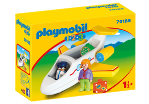 Playmobil - 1 2 3 - Plane with Passenger - 70185