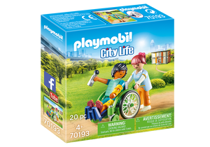 Playmobil - City Life - Patient in Wheelchair - 70193