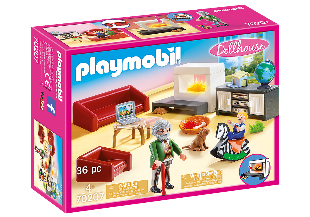 Playmobil - Dollhouse - Comfortable Living Room - 70207
