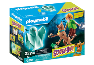 Playmobil - Scooby Doo! - Scooby and Shaggy with Ghost - 70287