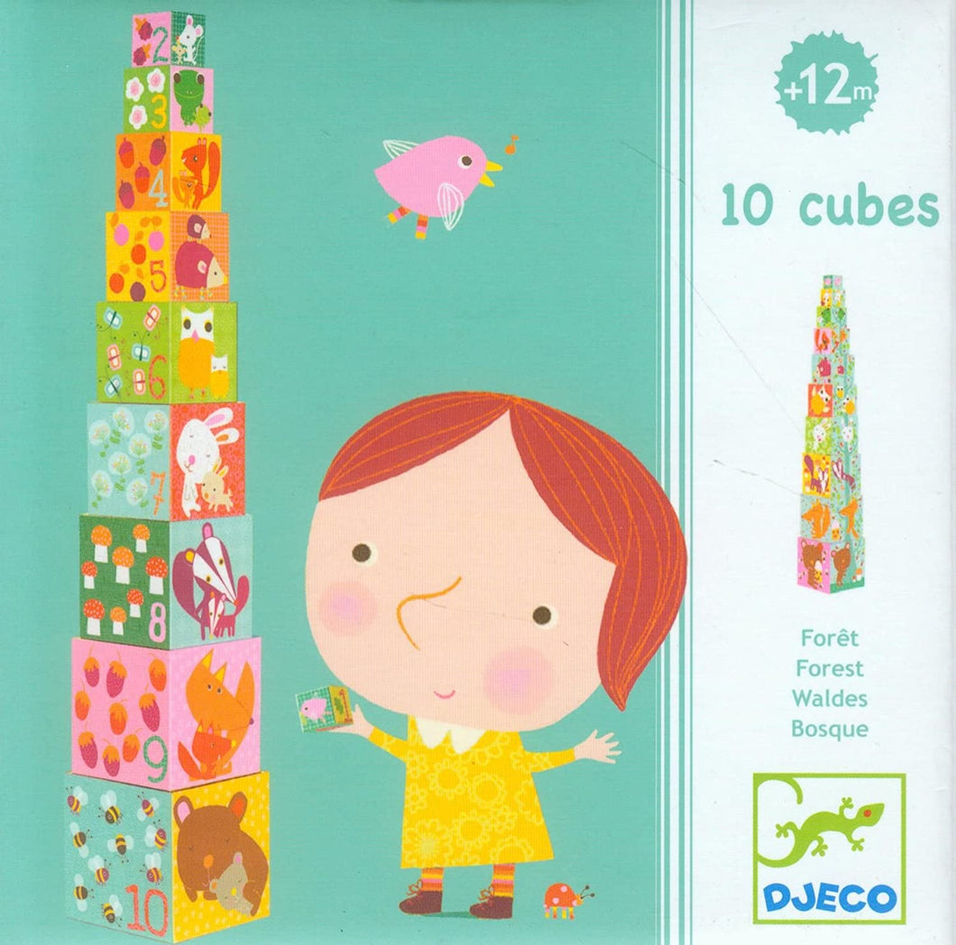 Djeco 10 Cubes Forest