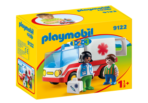 Playmobil - 1 2 3 - Rescue Ambulance - 9122