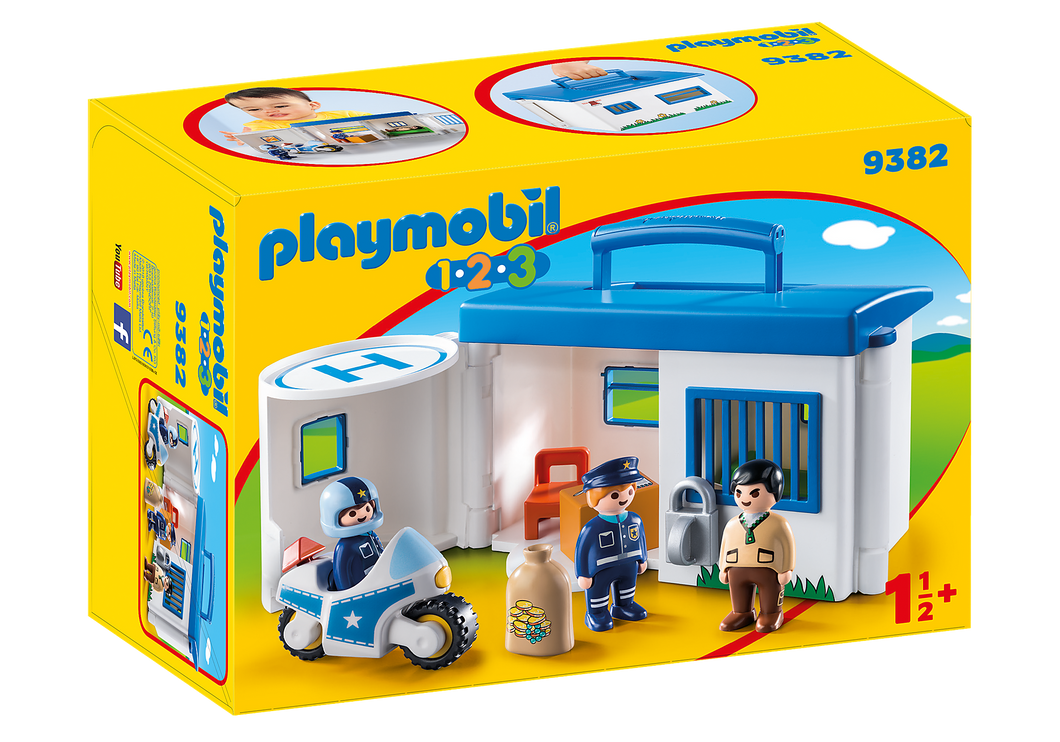 Playmobil - 1 2 3 - Take Along Police Station - 9382