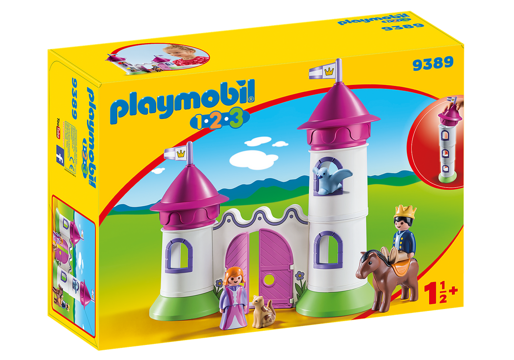 Playmobil - 1 2 3 - Castle with Stackable Towers - 9389