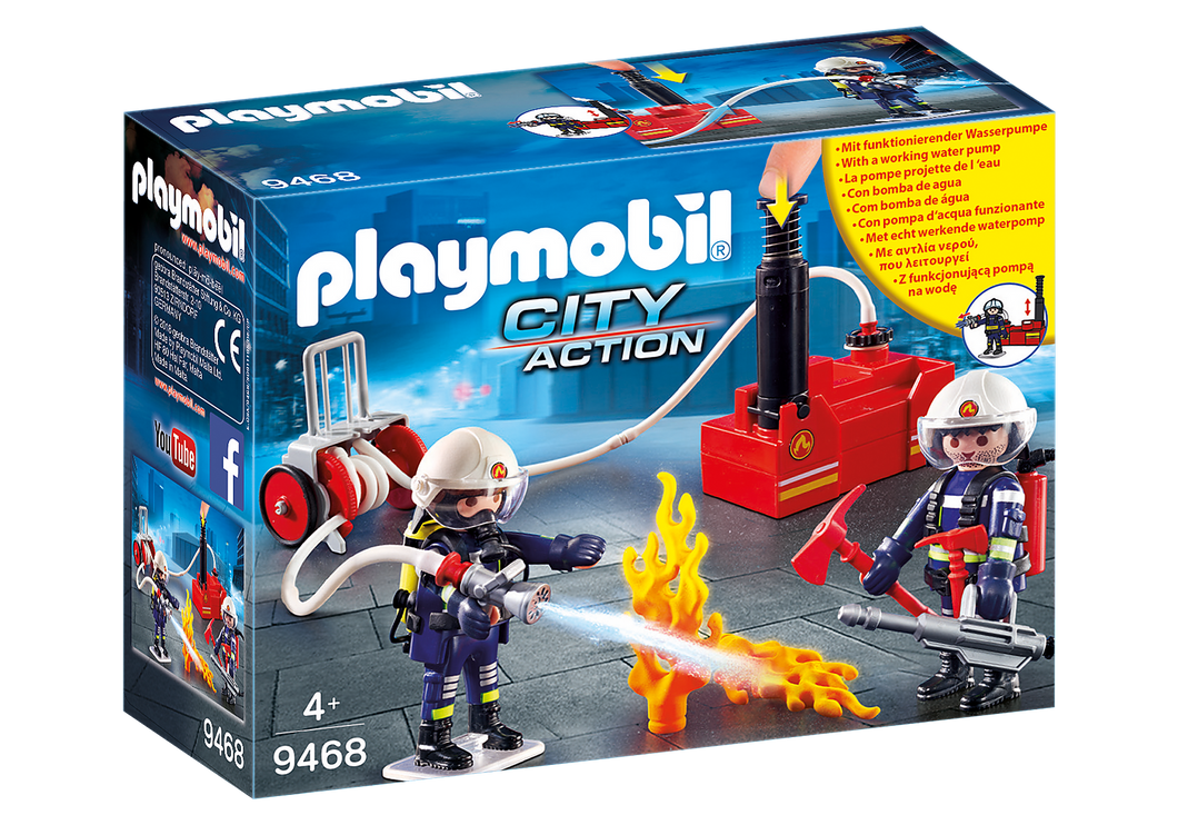 Playmobil - City Action - Firefighters with Water Pump - 9468
