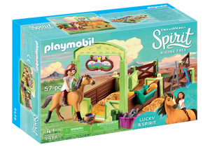 Playmobil - Spirit - Lucky & Spirit with Horse Stall - 9478