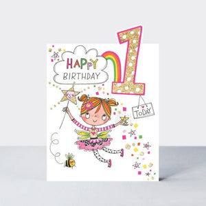 Birthday Card Age 1 Fairy