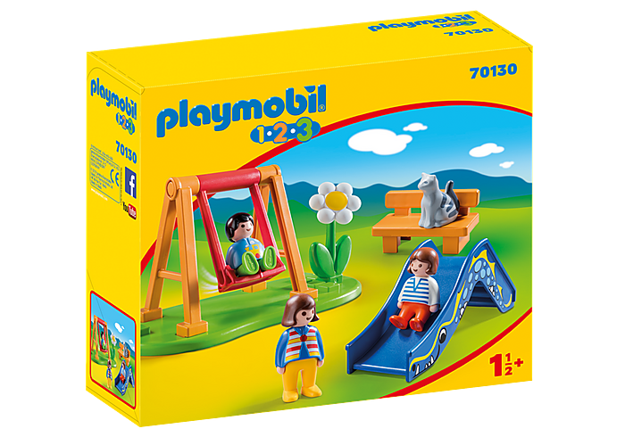 Playmobil - 1 2 3 - Children's Playground - 70130
