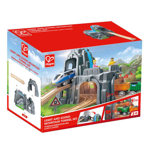 Hape Light & Sound Mountain Tunnel Set