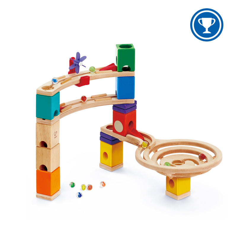 Hape Quadrilla Marble Run Construction Race to the Finish