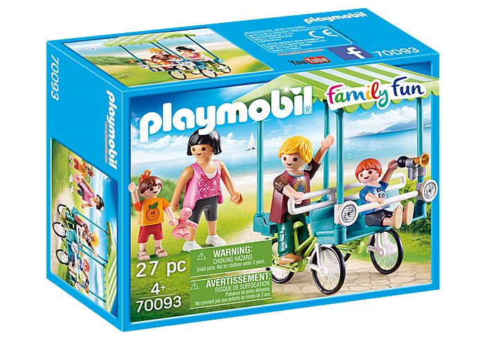 Playmobil - Family Fun - Family Bicycle - 70093