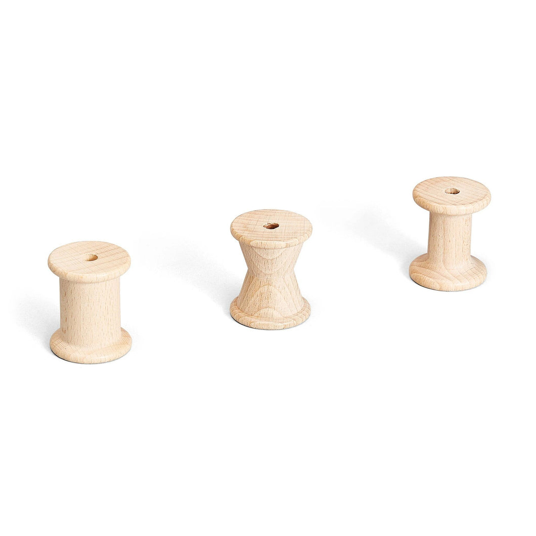 3 Spools Natural Wood by Grapat