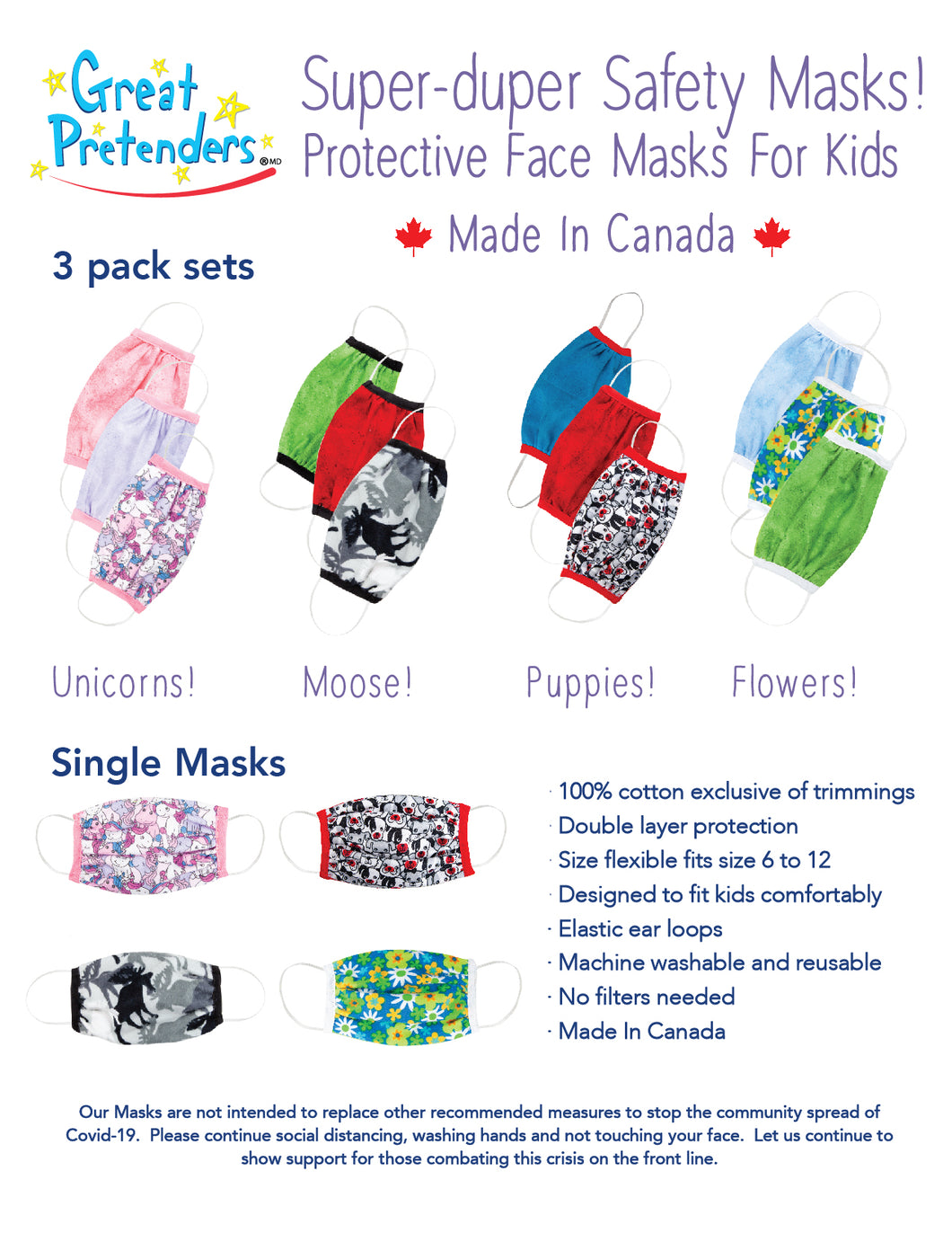Great Pretenders Children's Fabric Masks