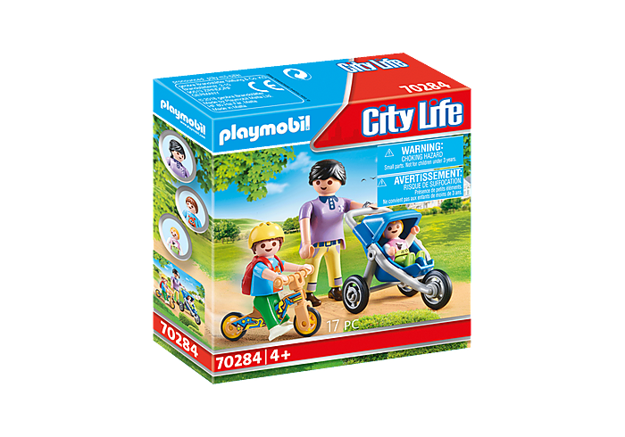 Playmobil - City Life - Mother with Children - 70284