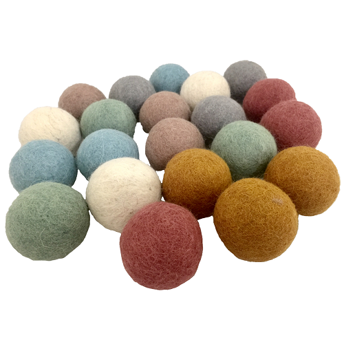 Earth Felt Balls Various Colours