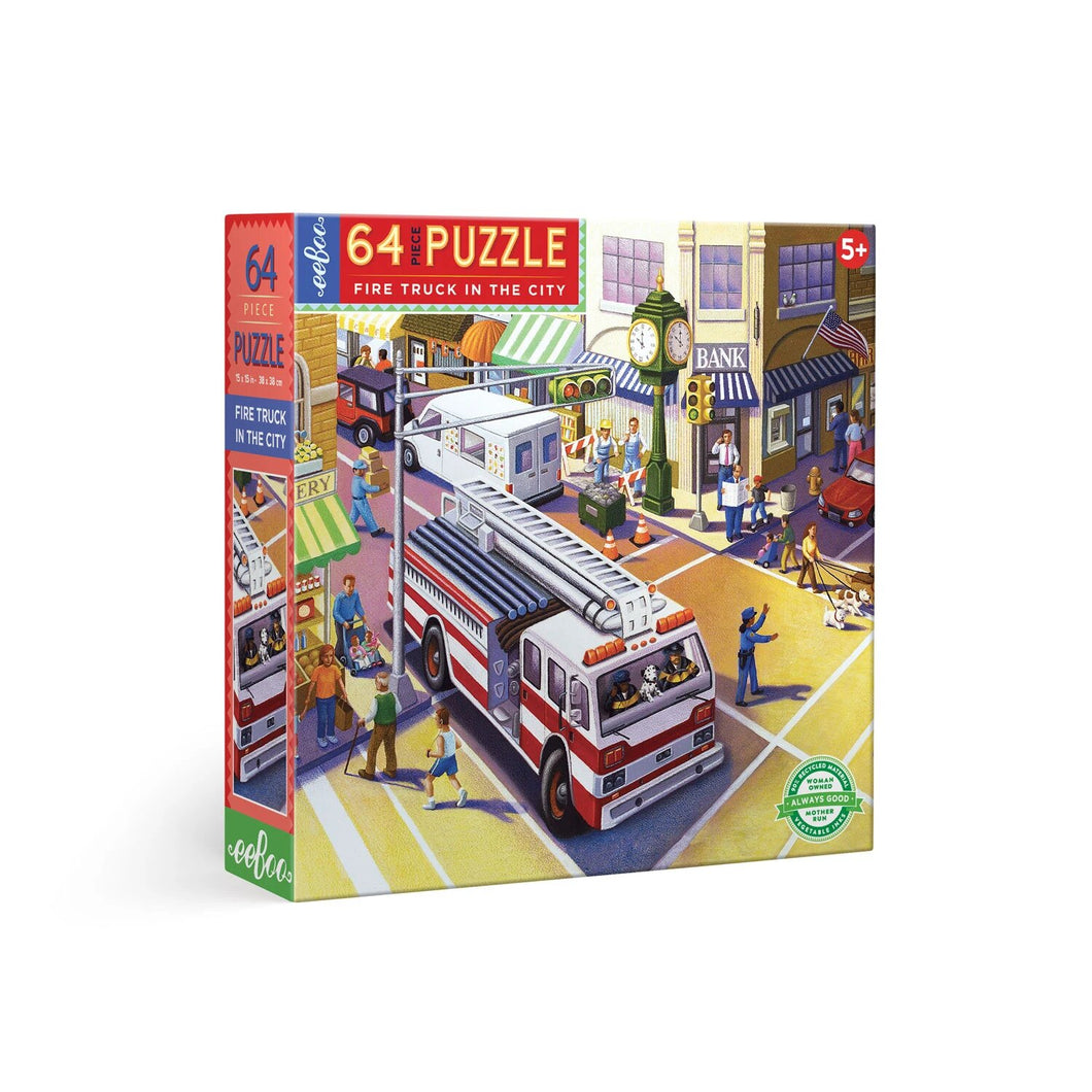 eeBoo Fire Truck In The City 64pc Puzzle