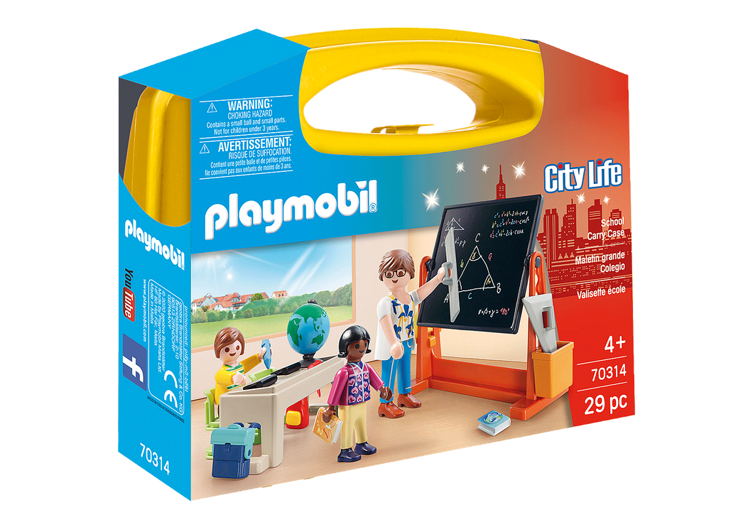Playmobil - City Life - School Carry Case - 70314
