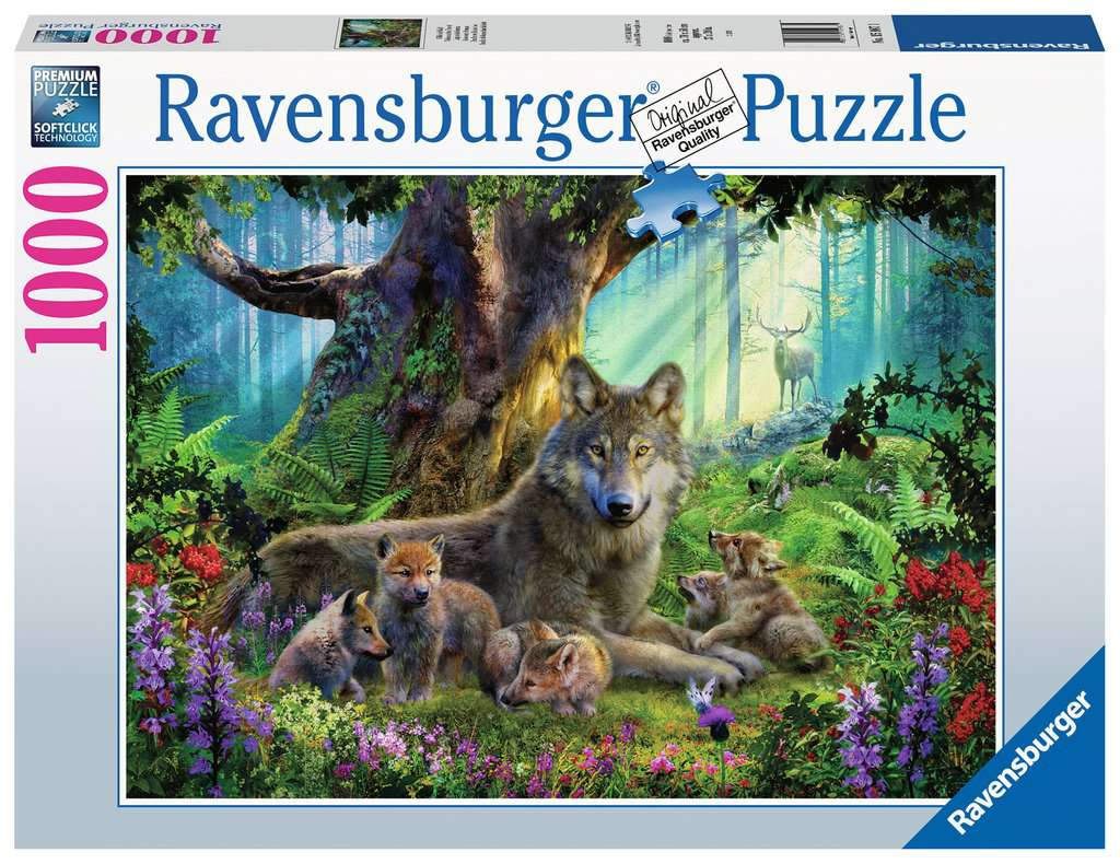 Ravensburger 1000pc Wolves in the Forest