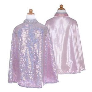 Great Pretenders Silver Sequins Reversible Cape SZ 7-8