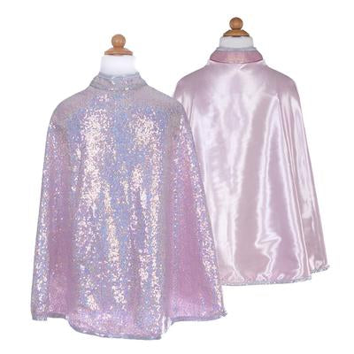 Great Pretenders Silver Sequins Reversible Cape