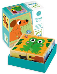Djeco Wouaf & Co Wooden Blocks