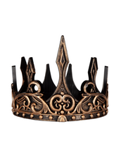 Load image into Gallery viewer, Great Pretenders Medieval Crown Silver and Black
