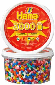 Hama Beads- Solid Mix 3000 Tub