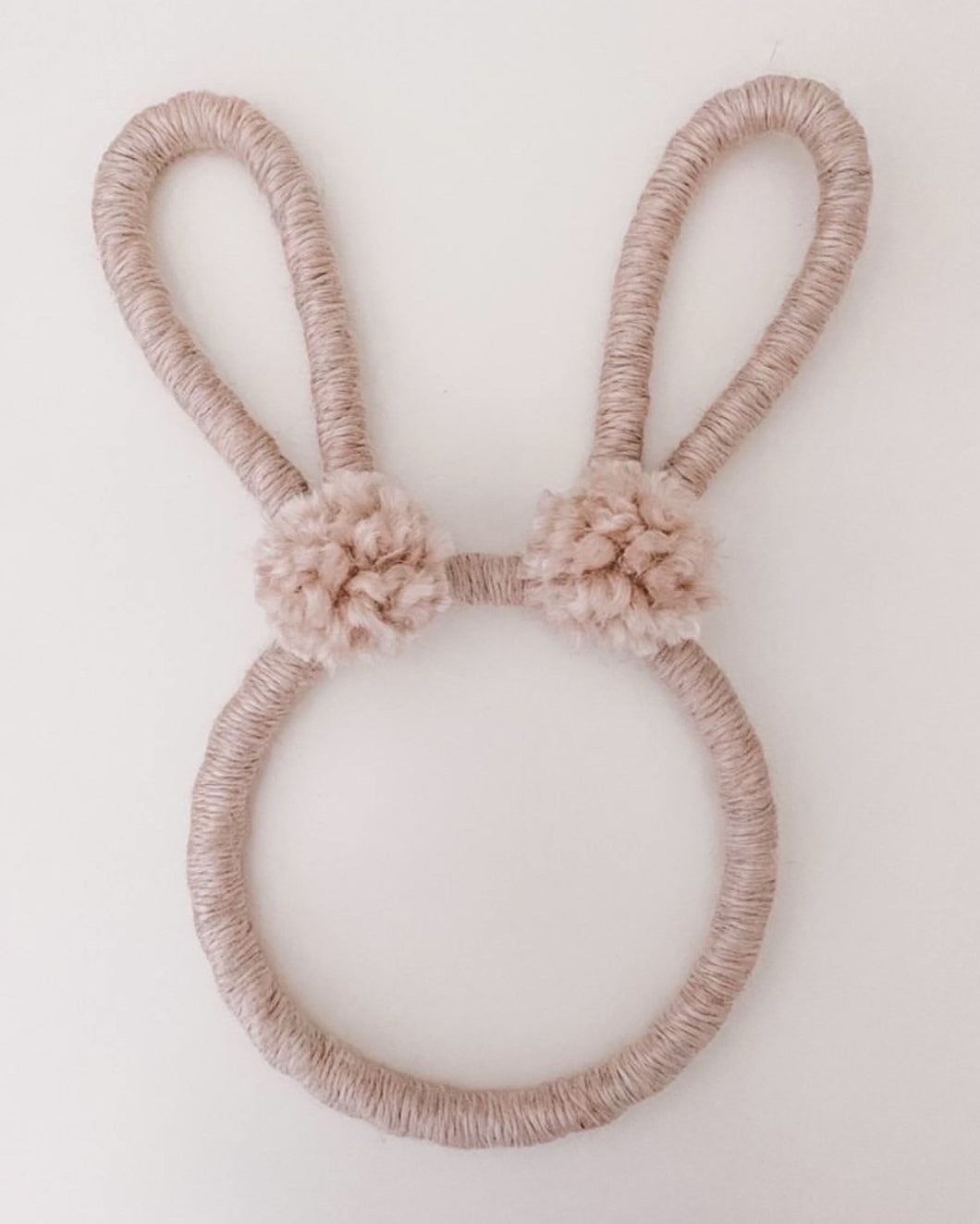 Bunny Animal Head Wall Hanging by The Willow Rainbow