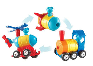 Learning Resources 1-2-3 Build it! Rocket, Train, and Helicopter