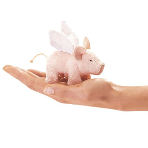Mini Winged Pig Finger Puppet