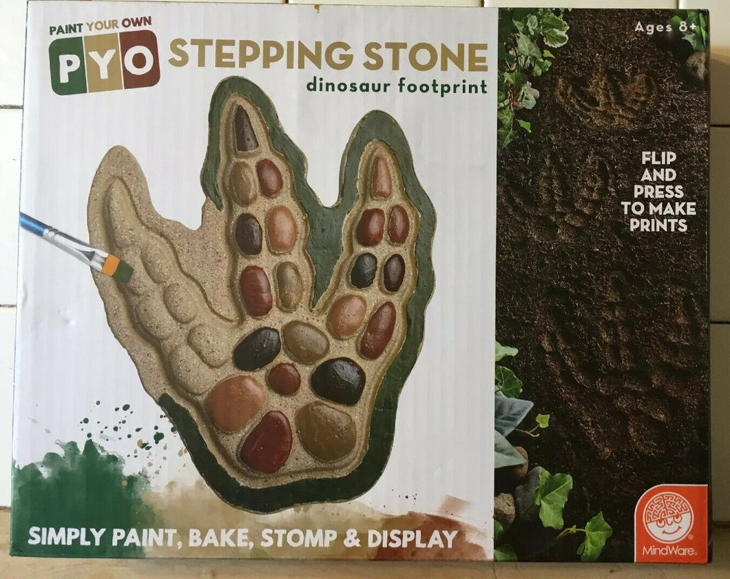 Paint Your Own Stepping Stone Dinosaur Footprint