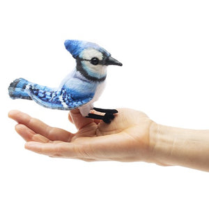 Mini Blue Jay Finger Puppet