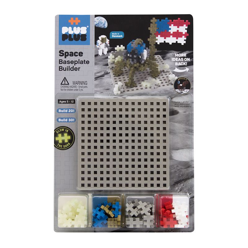 Plus Plus Moon Builder with Baseplate
