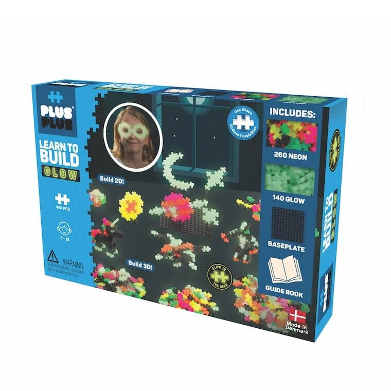 Plus Plus Learn to Build - Glow in the Dark 400pc