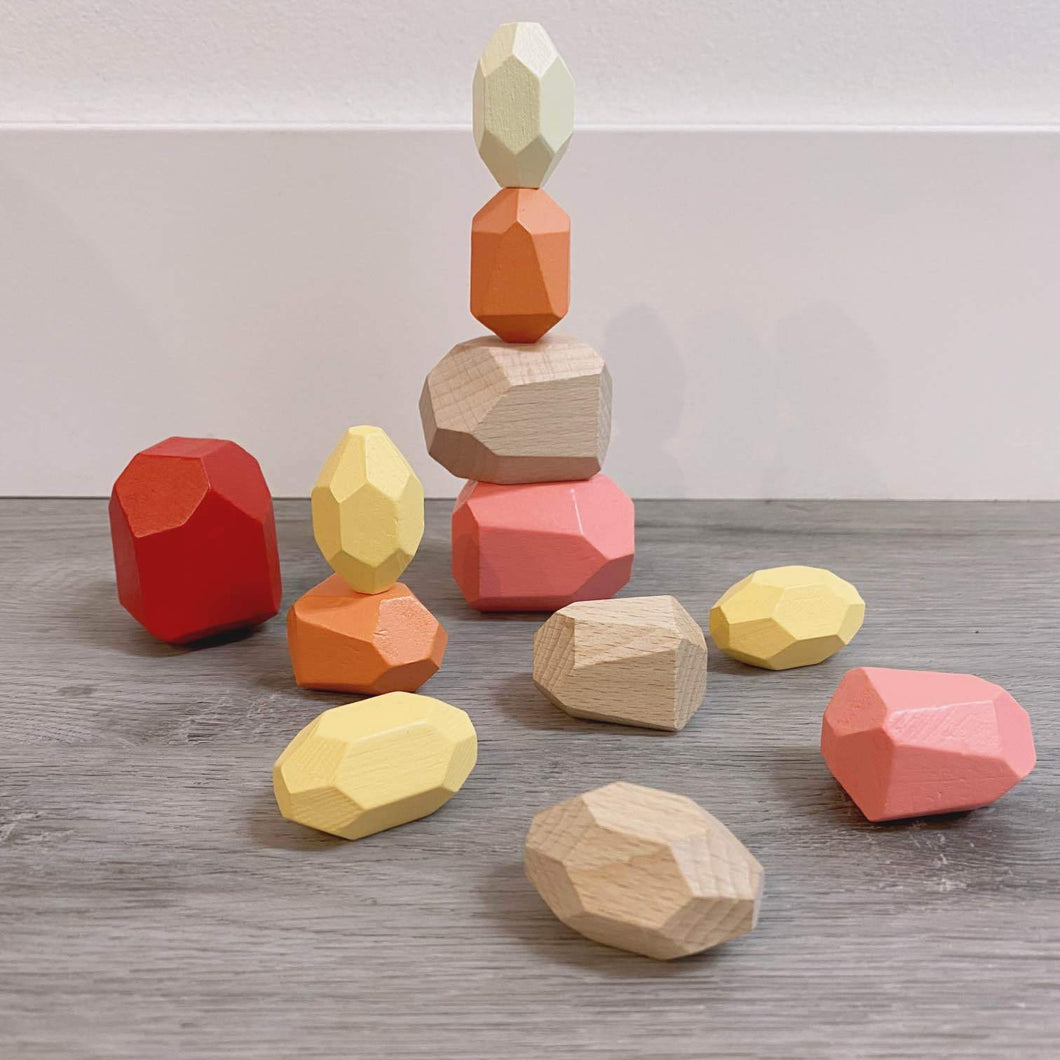 Stacking Rainbow Rocks - Pink Hues by Calmatco